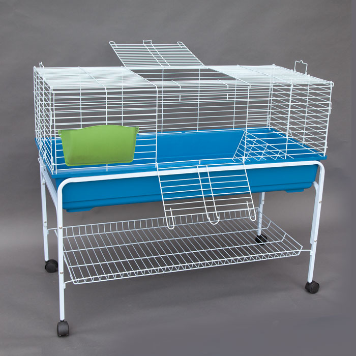 Flyline bunny hotel 120 rabbit guinea pig chinchilla cage for Guinea pig stand