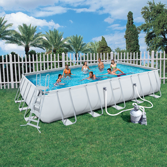 Bestway Steel Frame Above Ground Swimming Pool 22ft 56278 Sand Filter Pump Ebay