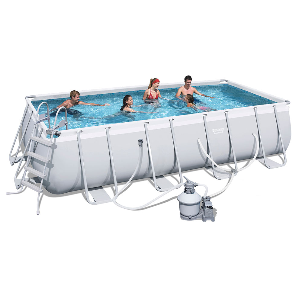 Bestway Steel Frame Above Ground Swimming Pool 18ft 56468 Sand Filter Pump