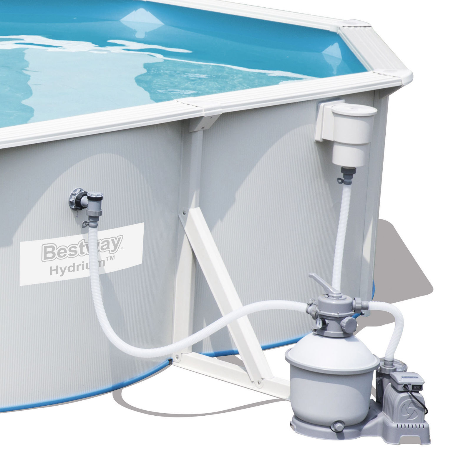 Bestway hydrium titan steel wall above ground swimming for Best above ground pool pump