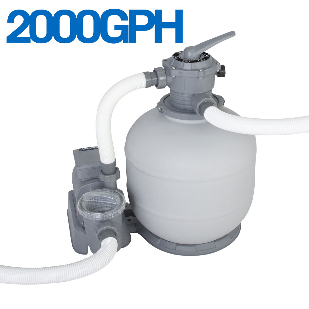 Bestay sand filter pump combo for above ground swimming
