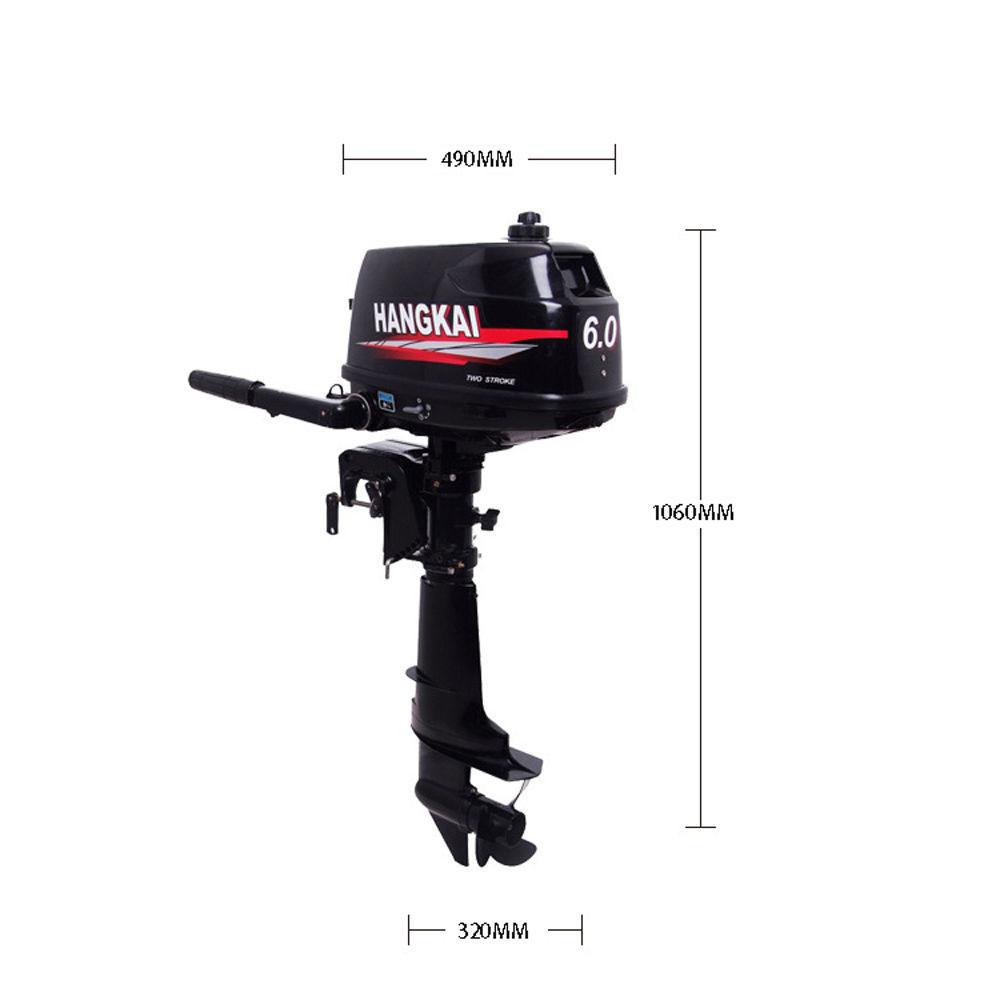 Hangkai water cooled 2 stroke 6hp outboard motor petrol for Hangkai 3 5 hp outboard motor manual