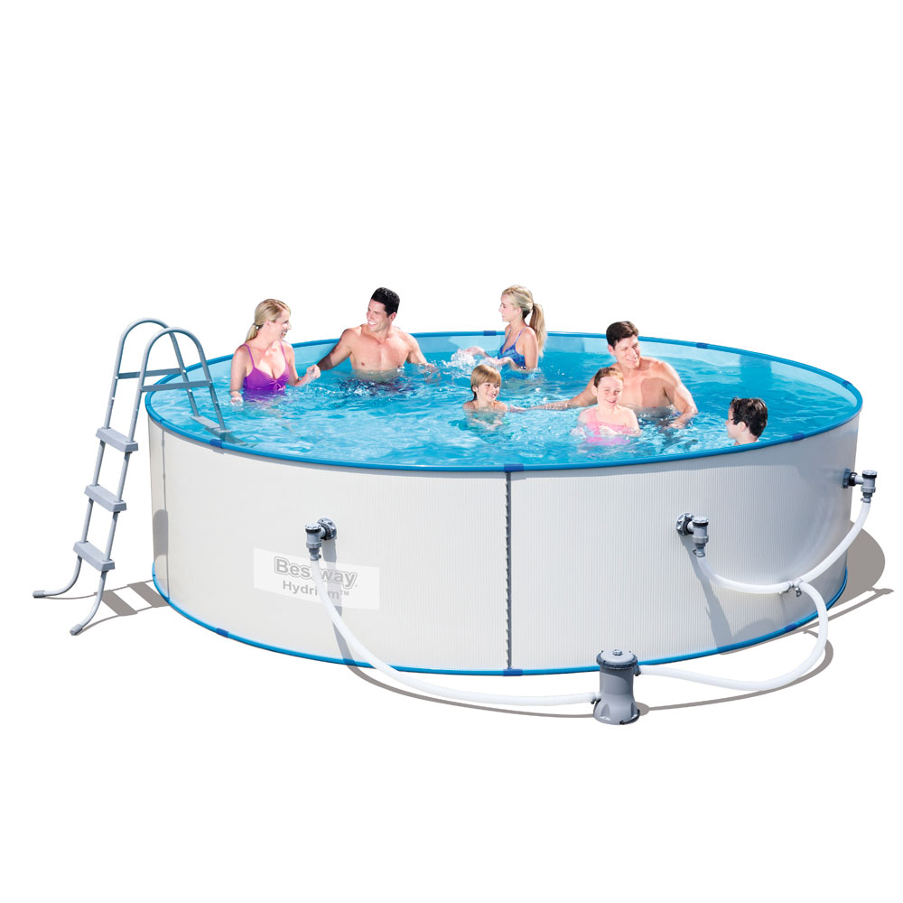 12ft Swimming Pool: Bestway Steel Sidewall Above Ground Swimming Pool 12ft