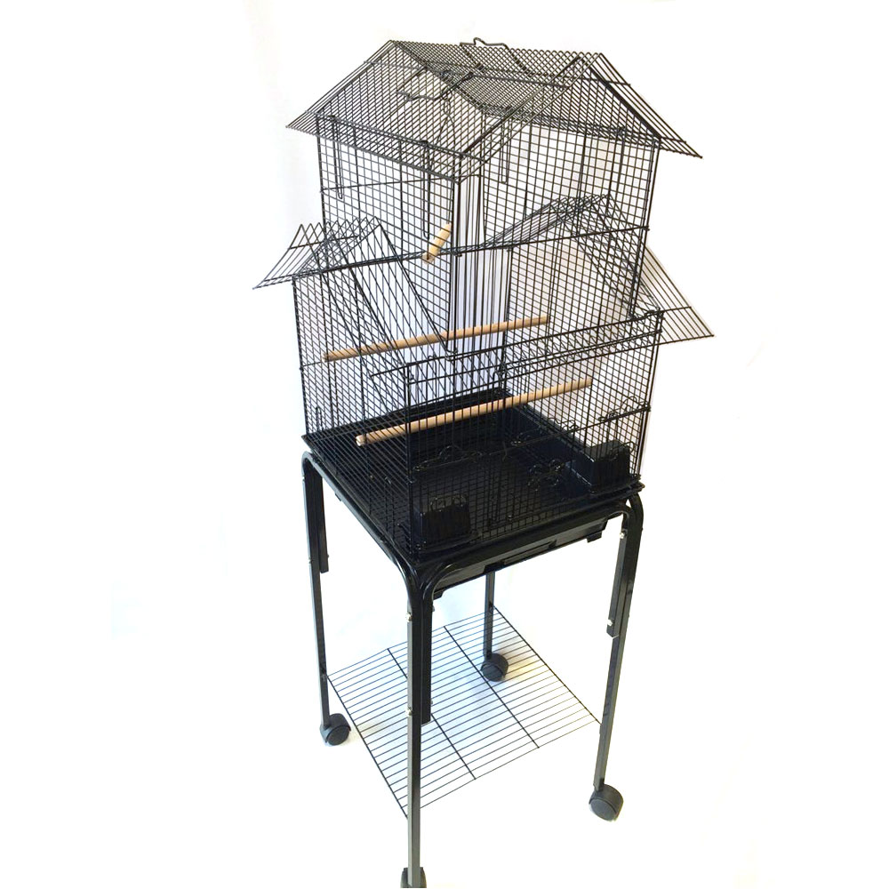 house top bird cage with stand for canary finch lovebird cockatiel parakeet. Black Bedroom Furniture Sets. Home Design Ideas