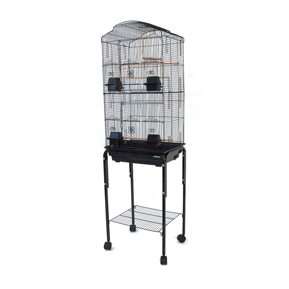 house top bird cage with stand for canary cockatiel parakeets lovebird finch ebay. Black Bedroom Furniture Sets. Home Design Ideas
