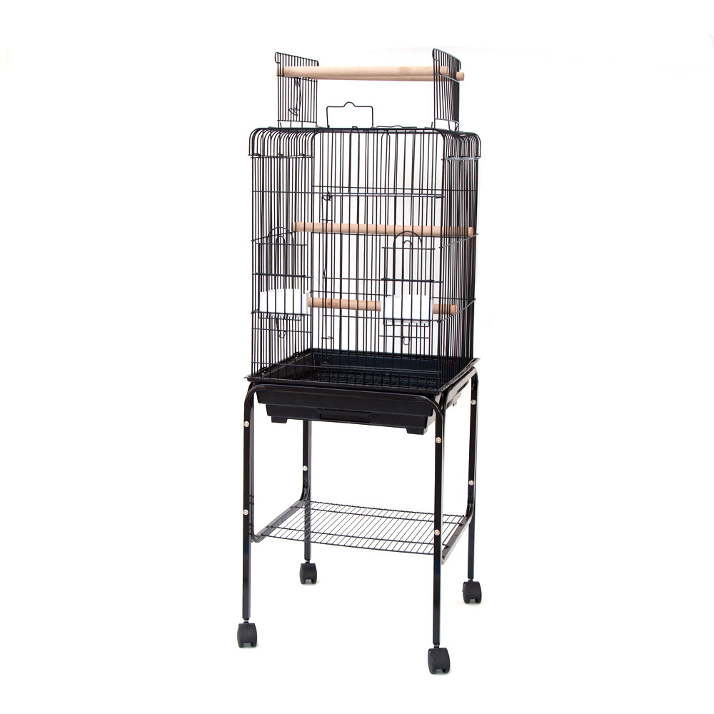 playtop parrot cockatiel bird cage with stand 18x18 ebay. Black Bedroom Furniture Sets. Home Design Ideas