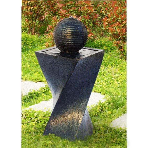 Solar Panel Fountain: Solar Power Water Fountain Feature With LED Twisted Design